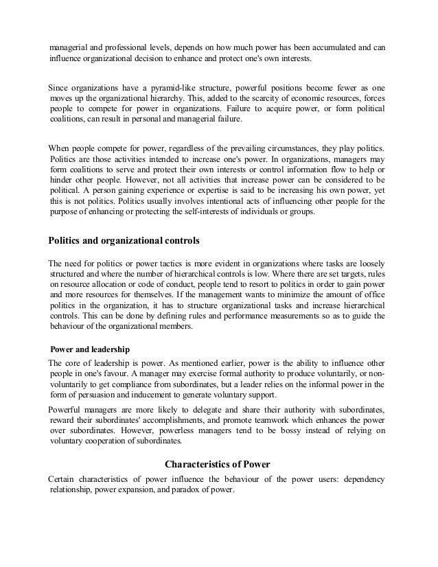 power in organizations Full-text paper (pdf): understanding power in organizations.
