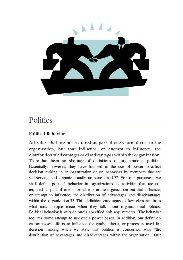 Power And Politics In Organizational Life