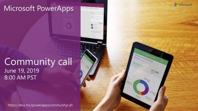 PowerApps community call-June 2019