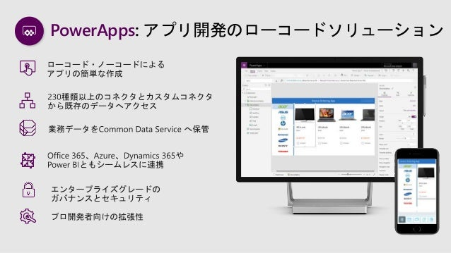Microsoft PowerApps ビジョンとロードマップ 2019年秋 Slide 3