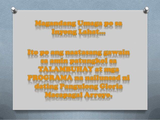 Talambuhay ni társkereső gloria macapagal arroyo online társkereső 72 órás szabály