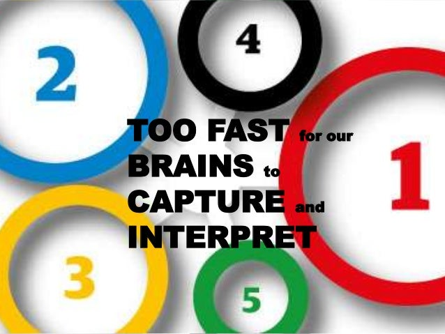 TOO FAST for our BRAINS to CAPTURE and INTERPRET