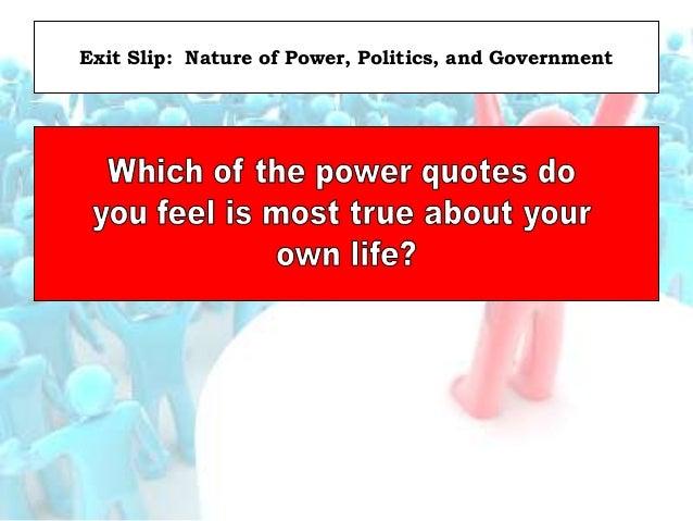 Focus Question: Five Sources of Power