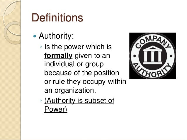 power vs authority essay