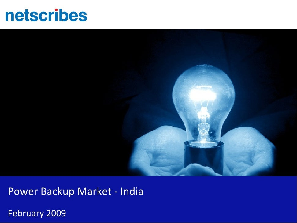 Power Backup Market - India February 2009
