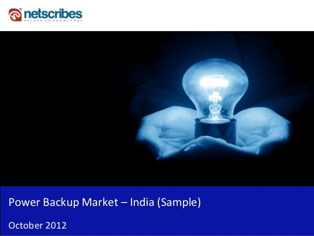 Insert Cover Image using Slide Master View                              Do not distortPower Backup Market – India (Sample)...