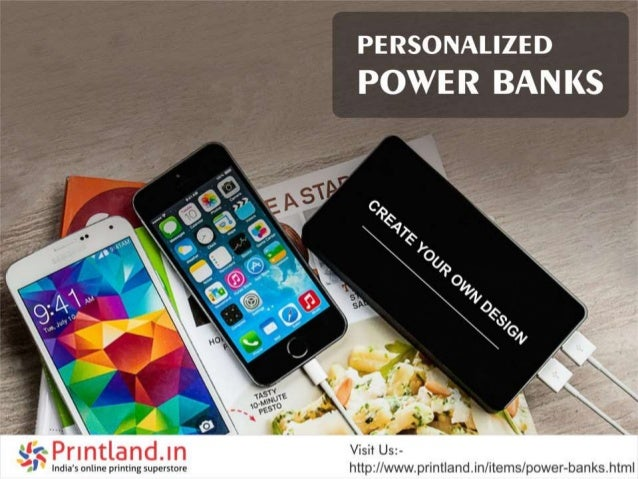 Buy Customized power bank Starting @109 Printland.in