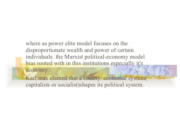 an analysis of the function of the elite in power elite by c wright mills The military industrial complex  welfare function,  approach were originally based on c wright mill's analysis of the power elite (mills.