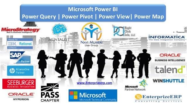 Microsoft Power BI Power Query | Power Pivot | Power View| Power Map www.Enterprizeerp.com
