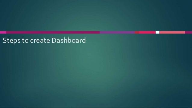 Steps to create Dashboard
