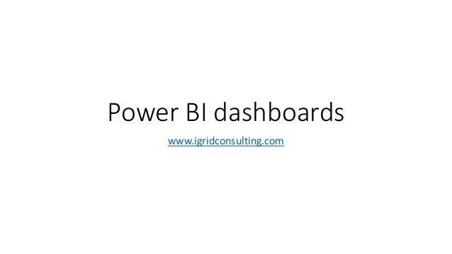 Power BI dashboards www.igridconsulting.com