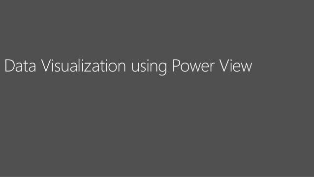 Data Visualization using Power View