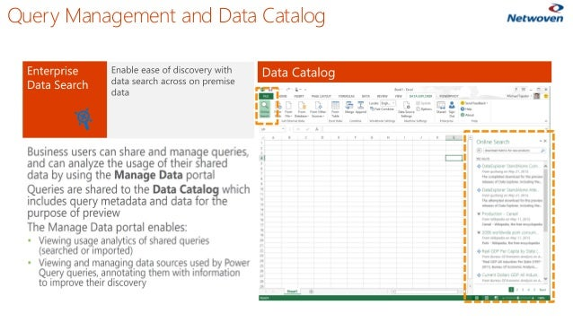 Query Management and Data Catalog