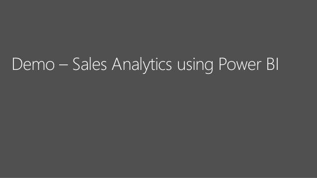 Demo – Sales Analytics using Power BI