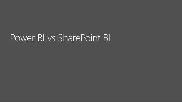 Power BI vs SharePoint BI