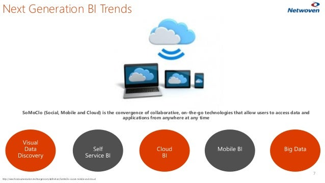 7 SoMoClo (Social, Mobile and Cloud) is the convergence of collaborative, on-the-go technologies that allow users to acces...