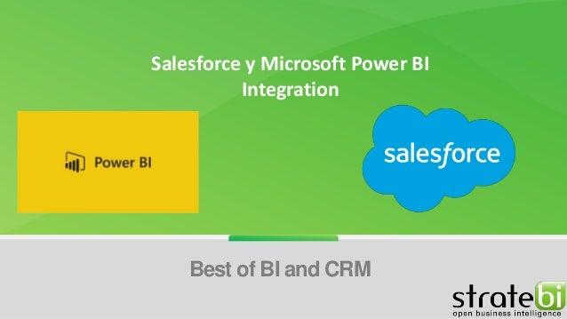 Salesforce y Microsoft Power BI Integration Best of BI and CRM