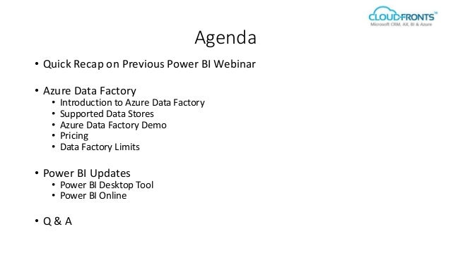 Azure Data Factory and Power BI Updates