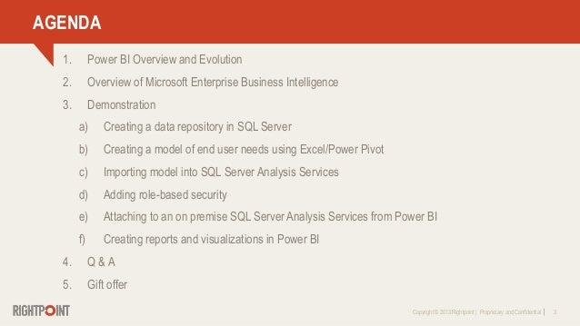 Leveraging Microsoft Power BI To Support Enterprise Business Intelligence Slide 3