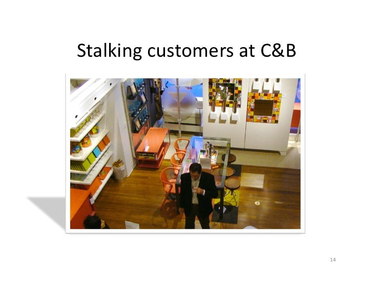 Stalking	  customers	  at	  C&B	                                           14