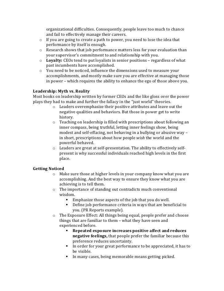 Power by Jeffrey Pfeffer - Key Takeaways Slide 2