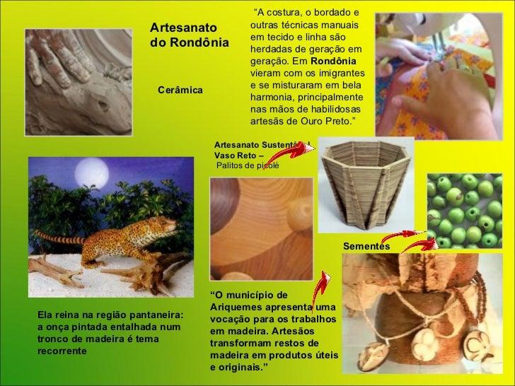 Artesanato Região Norte ~ POWER POINT Brasil Artesanato Regi u00e3o Norte