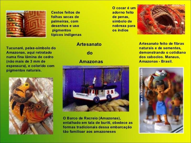 Artesanato Uruguai ~ POWER POINT Brasil Artesanato Regi u00e3o Norte