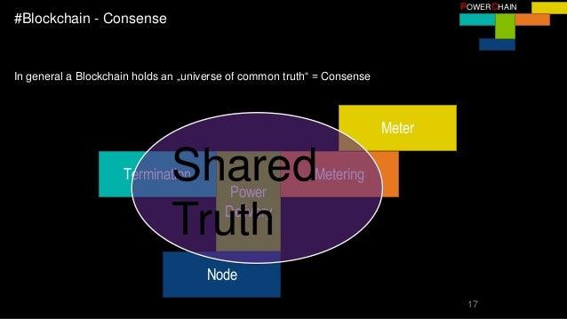 "17 POWERCHAIN #Blockchain - Consense In general a Blockchain holds an ""universe of common truth"" = Consense Node Terminati..."