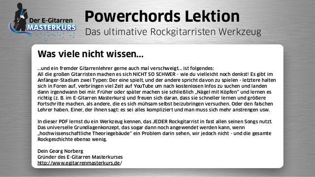 Powerchords Lektion Das ultimative Rockgitarristen Werkzeug Was viele nicht wissen... ...und ein fremder Gitarrenlehrer ge...