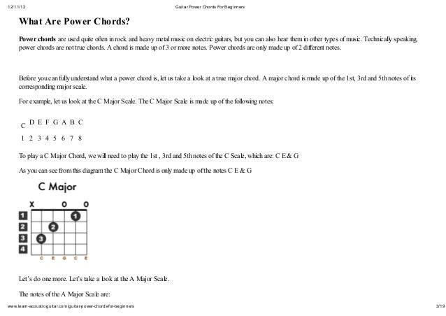 Guitar guitar chords explained : Power chords explained