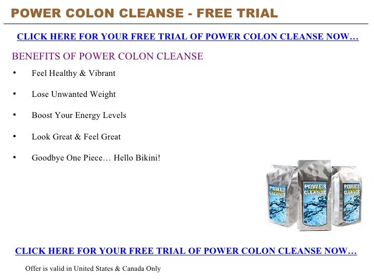 Natural Colon Cleanse Free Trial