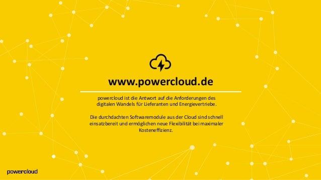 www.powercloud.de www.powercloud.de powercloud ist die Antwort auf die Anforderungen des digitalen Wandels für Lieferanten...