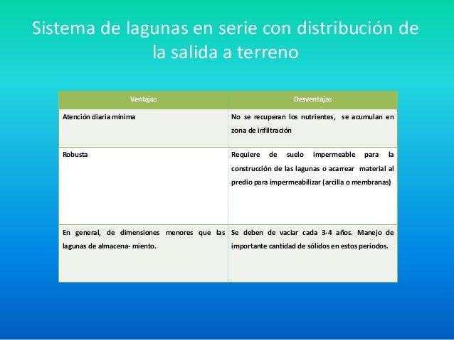 Presentacion manejo de efluentes en tambo for Lagunas artificiales construccion