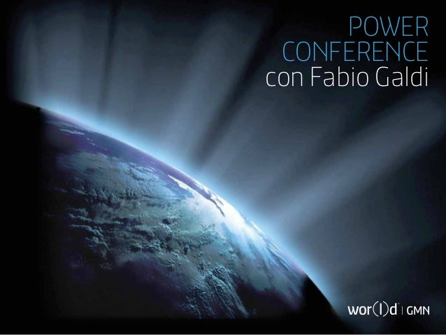 POWER CONFERENCEcon Fabio Galdi