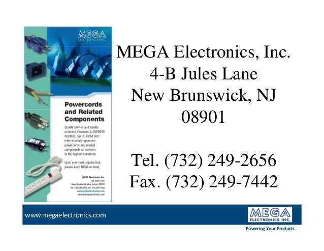 Power Cord by Mega Electronics on
