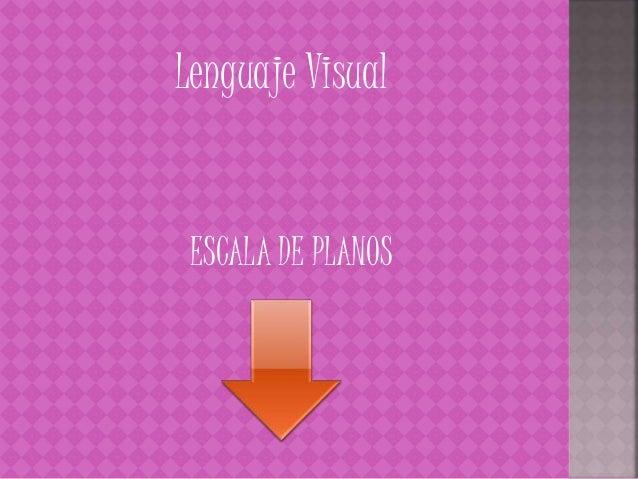 Lenguaje Visual ESCALA DE PLANOS