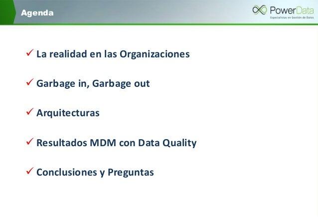 """""""¿Master Data Management sin Data Quality? ¿es posible?"""" Slide 3"""