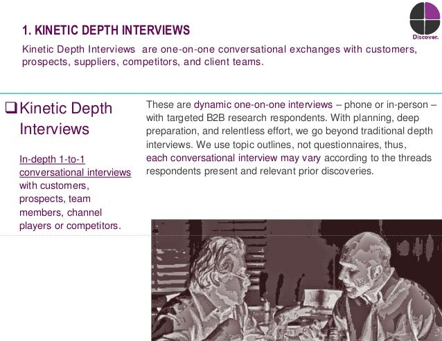 12© Duarte, Inc. 2014 Kinetic Depth Interviews In-depth 1-to-1 conversational interviews with customers, prospects, team ...