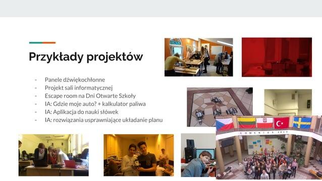 Przykłady projektów - Panele dźwiękochłonne - Projekt sali informatycznej - Escape room na Dni Otwarte Szkoły - IA: Gdzie ...