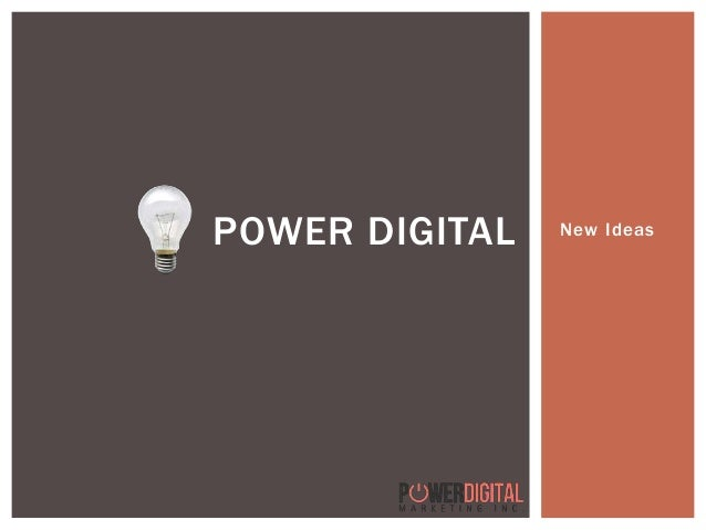 New IdeasPOWER DIGITAL
