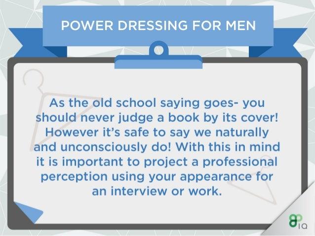 IQ Work Hacks - Power Dressing (For Men)  Slide 2