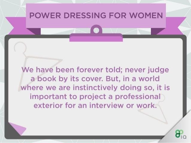 IQ Work Hacks - Power Dressing (For Women) Slide 2