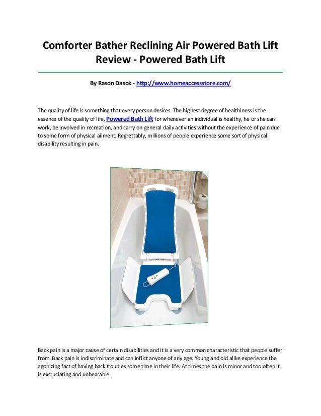 Powered bath lift