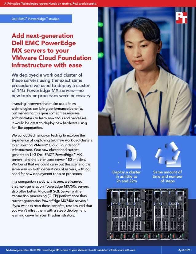 Add next-generation Dell EMC PowerEdge MX servers to your VMware Cloud Foundation infrastructure with ease We deployed a w...