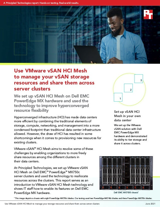 Set up vSAN HCI Mesh in your own data center We set up the VMware vSAN solution with Dell EMC PowerEdge MX hardware and de...