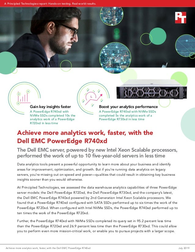 Achieve more analytics work, faster, with the Dell EMC