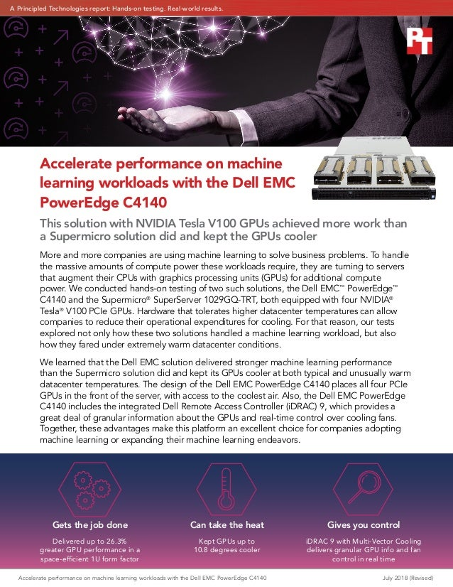 Accelerate performance on machine learning workloads with the Dell EM…