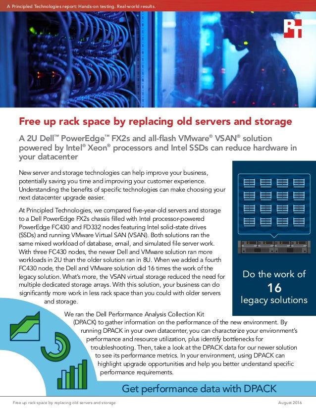A Principled Technologies report: Hands-on testing. Real-world results. Free up rack space by replacing old servers and st...
