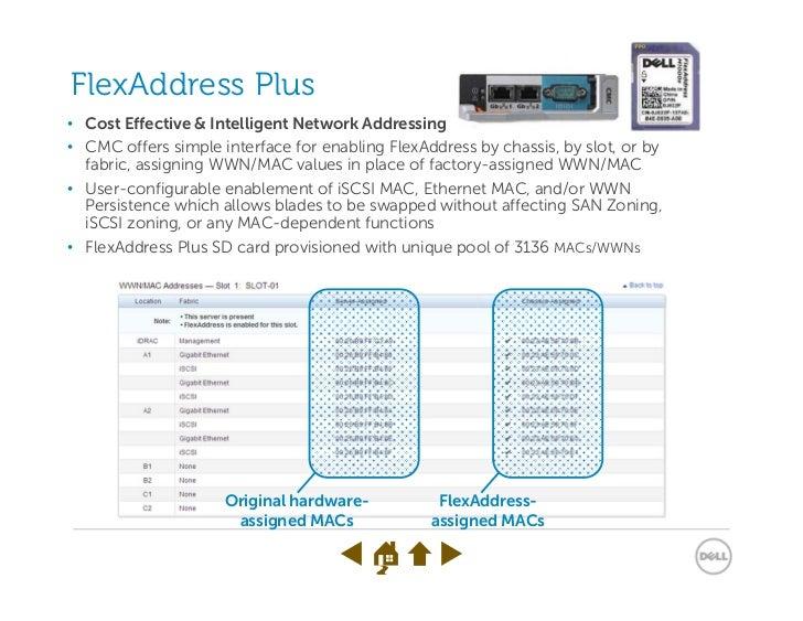 FlexAddress Plus• Cost Effective & Intelligent Network Addressing• CMC offers simple interface for enabling FlexAddress by...