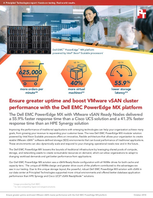 Ensure greater uptime and boost VMware vSAN cluster performance with the Dell EMC PowerEdge MX platform The Dell EMC Power...